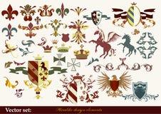 Heraldyka elementy Obrazy Stock