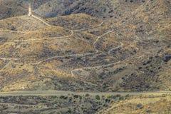 Herança da mineração, fundição da ligação, perto de Villaricos, AlmerÃa, a Andaluzia, Espanha Fotografia de Stock