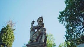 Herança do parque da estátua video estoque