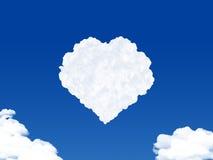 Herart deu forma à nuvem Imagens de Stock Royalty Free