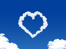 HEART SHAPED CLOUD Stock Photography