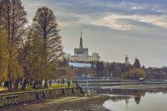 Herastrau公园和出版自由议院 库存照片