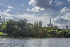 Herastrau Jeziorny Casa Presei Buduje Bucharest Rumunia obrazy royalty free