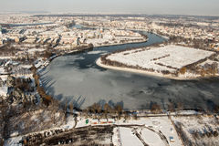 Herastrau lake - aerial view Royalty Free Stock Image