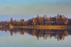 Herastrau lake, Bucharest, Romania Stock Image