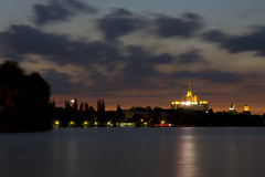 Herastrau Park. With a view towards Casa Presei Libere at night Stock Photography
