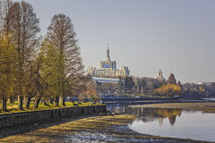 Herastrau park and Free Press House Stock Images