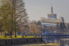 Herastrau park and Free Press House Stock Photography