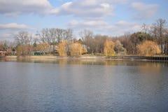 Herastrau park, jezioro Obraz Stock