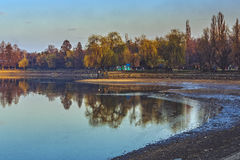 Herastrau park and lake Royalty Free Stock Images