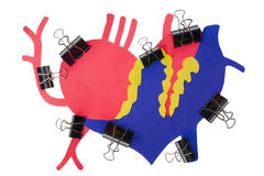 Herat Myocardial infarction attack concept Royalty Free Stock Image