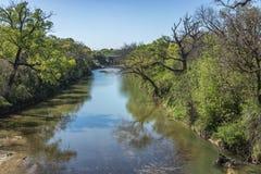 Herauf den Lampasas-Fluss Stockbild