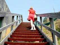 Herauf die Treppen Stockfotos