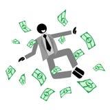 Herauf Geld stock abbildung