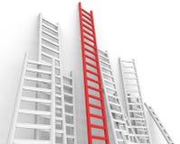 Herauf Hindernis stellt Sprungs-Hürde und Fortschritt dar Lizenzfreie Stockfotos