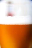 Herauf nahes Bier Lizenzfreies Stockfoto
