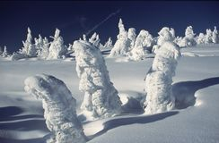 Herauf Schneeschnee strom Stockfotos