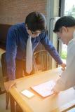 Herauf Tabellenarbeitsplatz lizenzfreies stockfoto