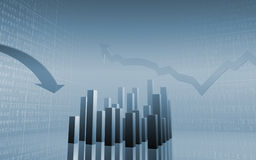 Herauf unten Pfeil-auf lagerdaten Lizenzfreies Stockfoto