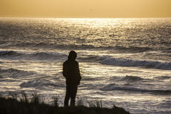 Heraus anstarren zum Meer Stockbild