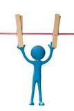 Heraus gehangen, um zu trocknen Stockbild