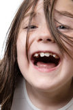 Heraus Loud lachen Stockfotografie
