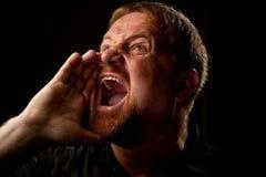 Heraus Loud schreien Stockfotografie