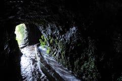 Heraus schauen durch eine Höhle Stockbilder