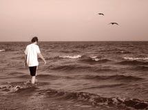 Heraus zum Meer Stockbild