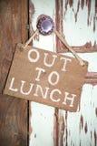 Heraus zum Mittagessen Lizenzfreie Stockfotos