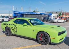 Herausforderer Hellcat 2015 an der Woodward-Traum-Kreuzfahrt Lizenzfreie Stockbilder