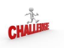 Herausforderung stock abbildung