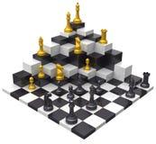 Herausforderung des Schachspiel-Gewinns 3D vektor abbildung