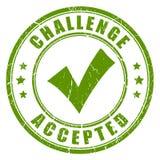 Herausforderung geltender Stempel vektor abbildung