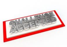 Herausforderung geltender Stempel der Zustimmung stock abbildung