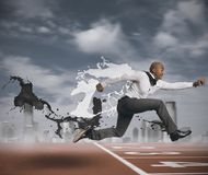 Herausforderung im Geschäft Stockfotos