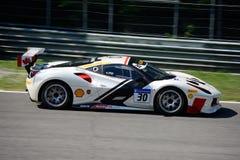 Herausforderung Joshua Cartu Ferraris 488 lizenzfreies stockbild