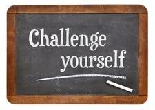 Herausforderung sich auf Tafel lizenzfreie stockfotos