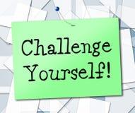 Herausforderung sich bedeutet Ermutigungs-Ehrgeiz und bestimmt lizenzfreie abbildung