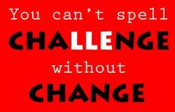 Herausforderung und Änderung stock abbildung
