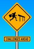 Herausforderungen voran lizenzfreie abbildung