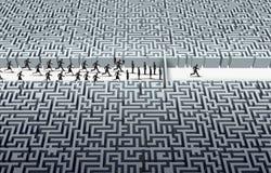 Herausforderungs-Führungs-Konzept Stockbild