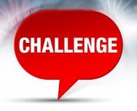 Herausforderungs-roter Blasen-Hintergrund lizenzfreie abbildung