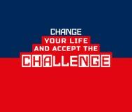 Herausforderungsfahnenkonzept Stockbild