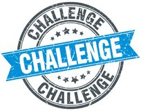 Herausforderungsstempel stock abbildung