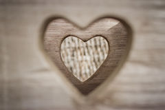 Herausgeschnittene Herzform Lizenzfreie Stockbilder