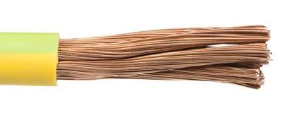 Herausgestellte Kabel und Drähte Stockfoto