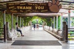 Herausnehmen der Bali-Safari u. der Marine Parks nach einem Spaßtag lizenzfreies stockbild