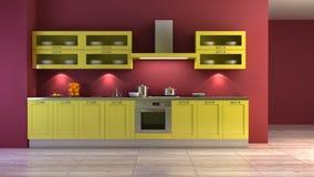 Herausspringen-Kunst Art-Kücheinnenraum Stockfoto