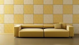 Herausspringen-Kunst Aufenthaltsraumraum mit Couch Stockbild